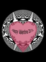 Valentine Fractal Heart 2012 by FractalBee