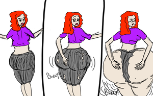 Penny Butt Expansion - Colored by Flintlass