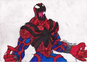 Spider-Carnage yelling by ChahlesXavier