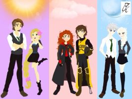 Hogwarts AU 1 by Psycho-Knight