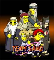 Naruto Simpsons - Team Sand by lloydvdw