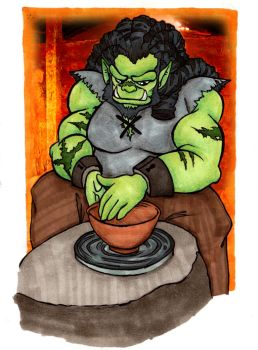 Orc at work by Inya-spring