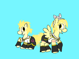 Pony Rin and Len by LowlyWorm