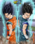coloring gokhan+vegehan back pose by Naruttebayo67
