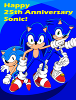 25 Years: Happy Anniversary Sonic! by SuperSentaiHedgehog
