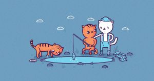 Teach a cat to fish by randyotter