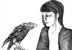 lilly lilsn and her raven by Lilly-Lilsn