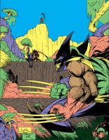 wolvie, pred, alien flats by toddrayner