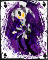 .:Spade of Cards:.Art Trade by The-Pink-Green-Chibi