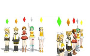 MMD - Sims Blumbbobs by 3D-Centainedj
