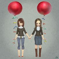 balloon sisters by y-u-k-i-k-o