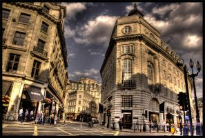 Oxford Circus Building by AbsentAsI
