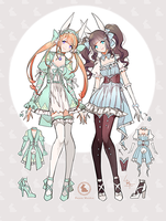 Adoptables - Bunny Maidens - Closed by Leirix