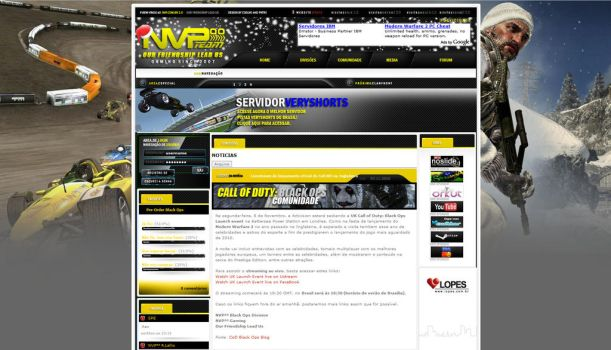 NVP E Sports Team Website by nandoacoelho