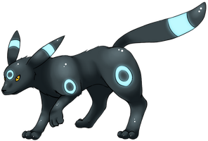 Shiny Umbreon by lilly-gerbil