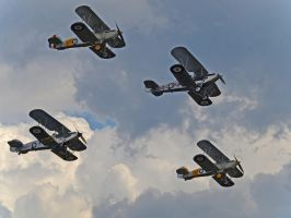Hawker Formation Duxford by davepphotographer