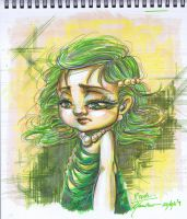 FF4: Young Rydia colour sketch by peannlui
