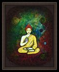 oldpaintingrevisited budha by santosam81
