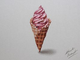 Ice cream DRAWING by Marcello Barenghi by marcellobarenghi
