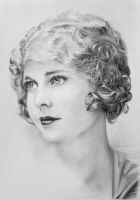 Pencil portrait of Esther Ralston by LateStarter63