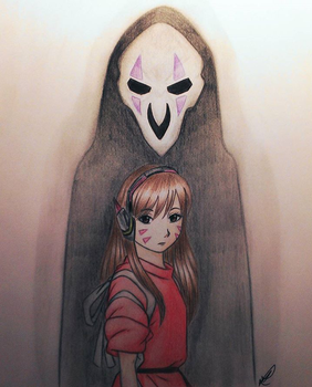 Spirited Away x Overwatch by Annaella