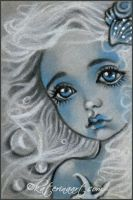 Tiny Mermaid ACEO by Katerina-Art