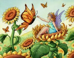 Sunflower Fairy by ColbyBluth