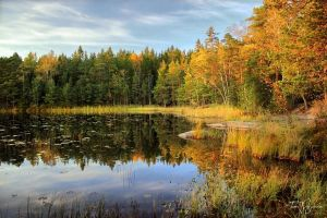 October Lake Revisited by Pajunen