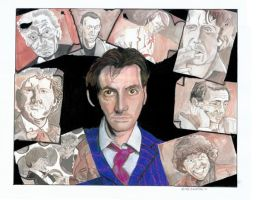 Doctor Who Faces by rori77
