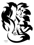 Nine-Tailed Kitsune Decal by RHPotter