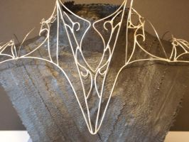 wire shoulder armor by thecolorfulspider
