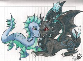 Dragon water and dark by Sury475
