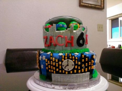 Teenage Ninja Mutant Turtles Cake by Paypay101