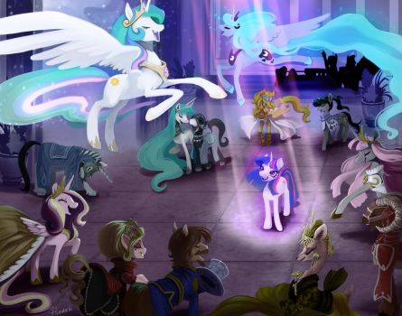 Pretty Pony Princess Party - Twilight's Honor by Lionel23