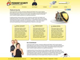Security Business Site Mockup by dhrandy
