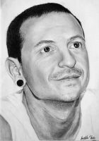 Chester Bennington LP by SilentHurricane13