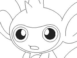 aipom lineart 1 by michy123