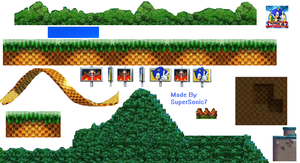 My Sonic 4 Sprite Sheet. by zack-pack