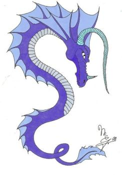 Dragon marker sketch by EternityArtist
