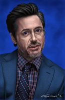 Robert Downey Jr by traydaripper