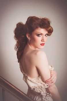 Redhead in Vintage Nightgown by OfficialSerenaStar