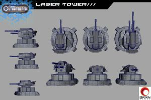 Always Outnumbered- Laser Tower by WoodardIllustration