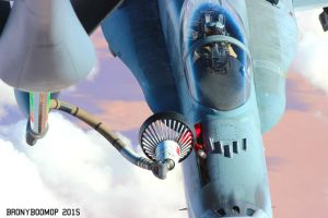 Canadian CF-18A (CF-188) Drogue Basket Refueling by BronyBoomOp