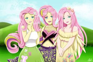 The Many Versions of Fluttershy - MLP by tachiban18