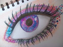Colourful Eye by pencil-to-papaer