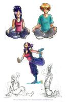 Yoga session by sonopants