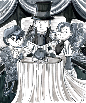 78. Drink - Tea Time - Layton by Meari-chan
