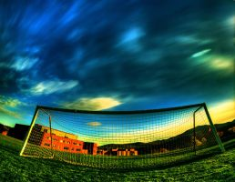 Open Goal by IraMustyPhotography