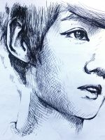 Luhan sketch by AlmightyCrow