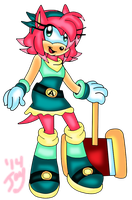 Amy Rose Jayfox style by jayfoxfire